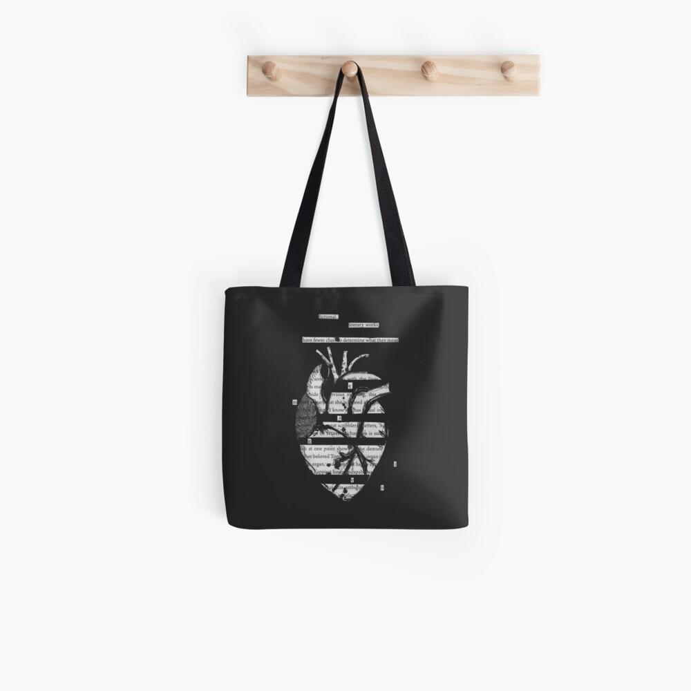 Blackout Poesie Herz Tote Bag