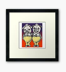 Tweedledum and Tweedledee Pugs Framed Print
