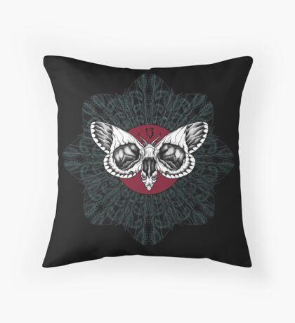 Mothzilla Throw Pillow