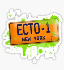 Ghostbusters ecto-1 license plate Sticker