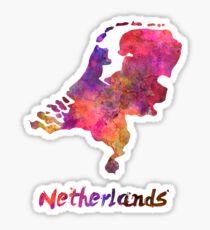 Netherlands in watercolor Sticker