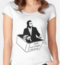 Pulp Fiction Vincent Vega Confused No Money Wallet Women's Fitted Scoop T-Shirt