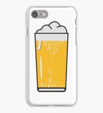 Drinking beer drinking beer glass iPhone Case/Skin