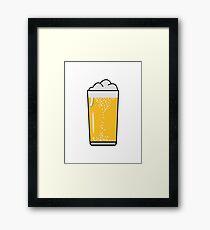Drinking beer drinking beer glass Framed Print