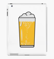 Drinking beer drinking beer glass iPad Case/Skin
