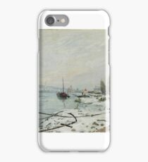 Mooring Lines, the Effect of Snow at Saint-Cloud iPhone Case/Skin