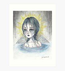 Weeping Angel (water) Art Print
