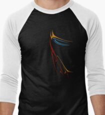 Face of Iron Men's Baseball ¾ T-Shirt