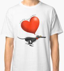 Gestohlenes Herz - schwarzer Hund Classic T-Shirt