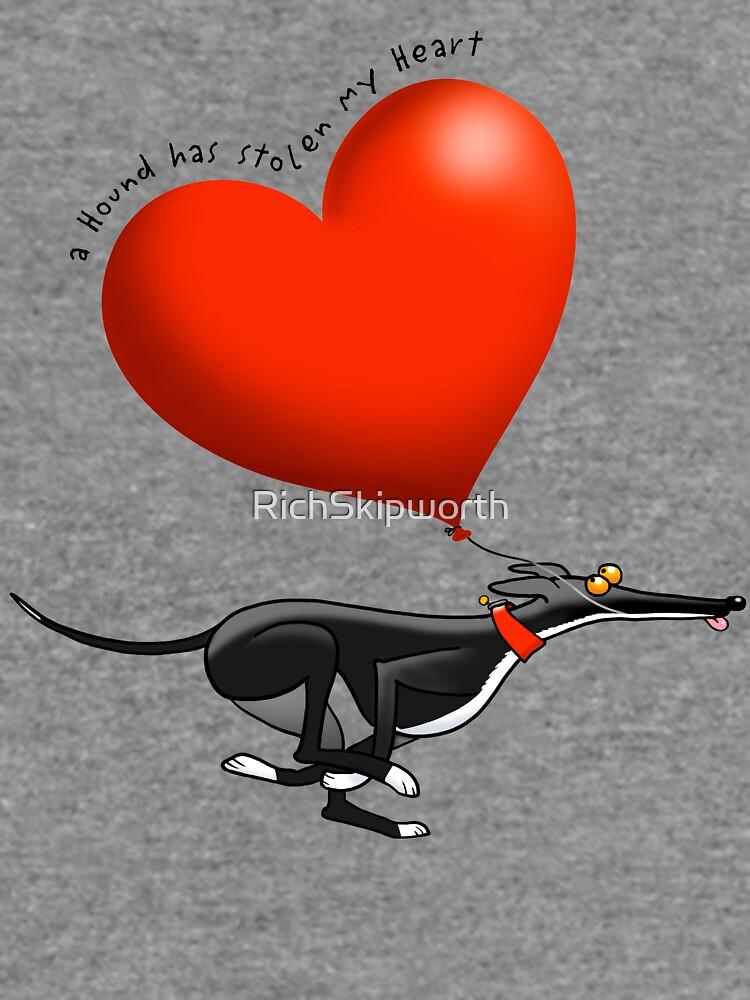 Gestohlenes Herz - schwarzer Hund von RichSkipworth