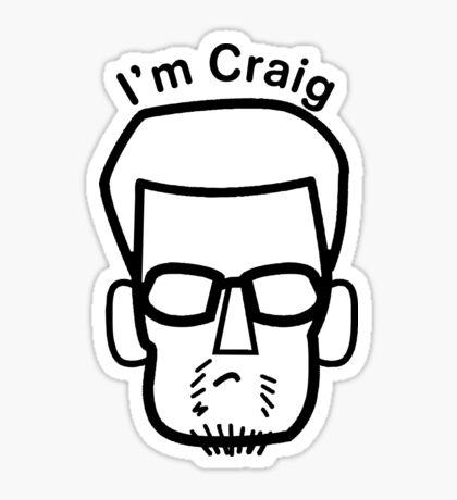 I'm Craig (black lines)  Sticker