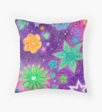 Purple Space Throw Pillow