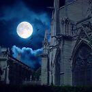 Moon Light Over Norte Dame by John Rivera