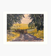 After Rain on the Wolds Way Art Print