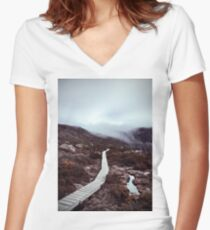 Skypath Women's Fitted V-Neck T-Shirt
