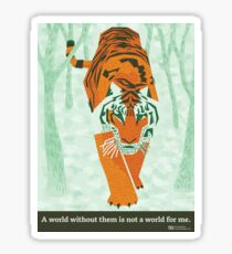 Tiger Conservation Sticker