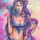 beautiful girl fantasy with fan by Alena Lazareva
