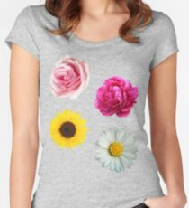 Flowers Set Women's Fitted Scoop T-Shirt