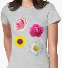 Flowers Set Womens Fitted T-Shirt