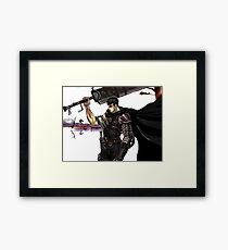 The Black Swordsman Framed Print