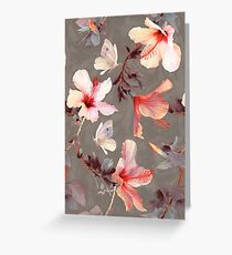 Coral Hibiscus Greeting Card