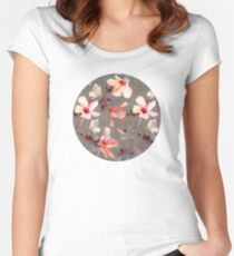 Coral Hibiscus Women's Fitted Scoop T-Shirt