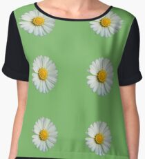 Six white daisies Women's Chiffon Top