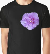 Purple hibiscus flower Graphic T-Shirt