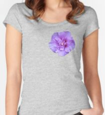 Purple hibiscus flower Women's Fitted Scoop T-Shirt