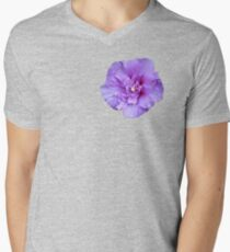 Purple hibiscus flower Men's V-Neck T-Shirt