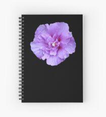 Purple hibiscus flower Spiral Notebook