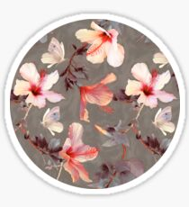 Coral Hibiscus Sticker
