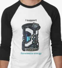 I Support Renewable Energy Men's Baseball ¾ T-Shirt