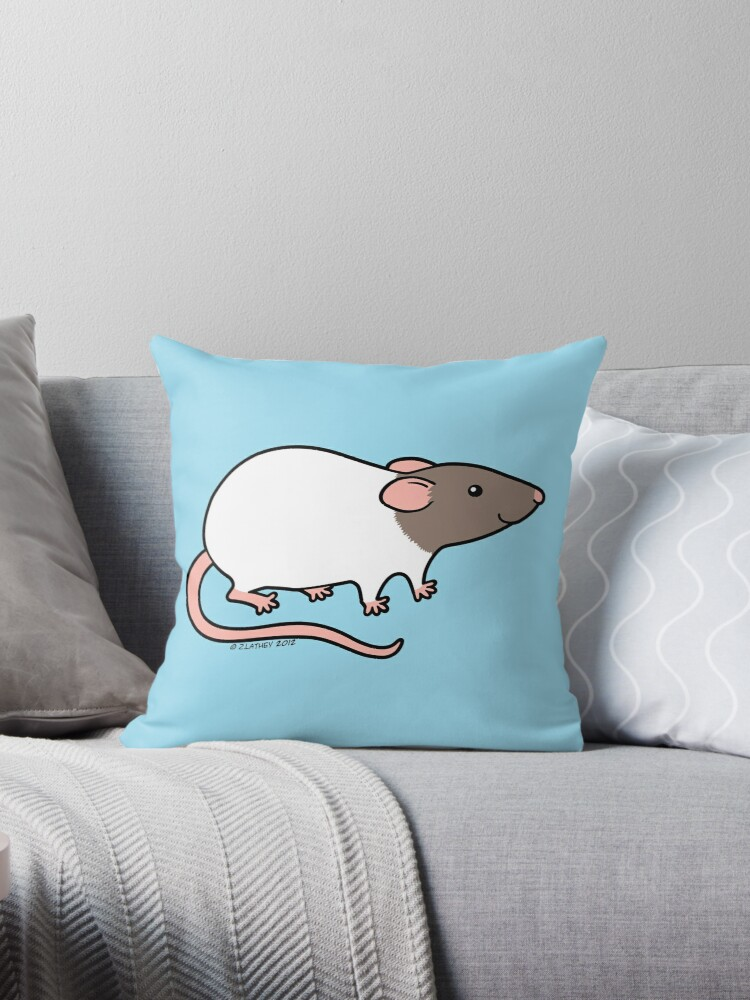 Friendly Hooded Rat - Grey and White by zoel