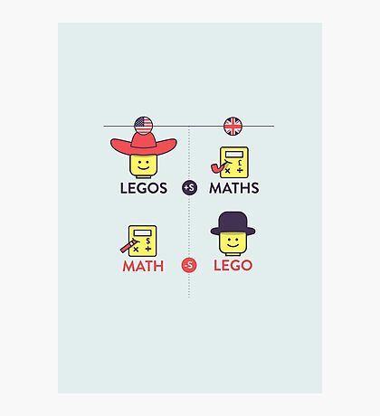 Lego and Maths Photographic Print