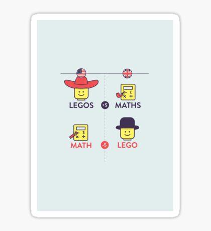 Lego and Maths Sticker