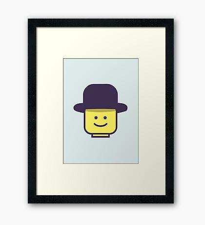 Mr Legoman Framed Print