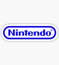 Blue Nintendo Logo Sticker