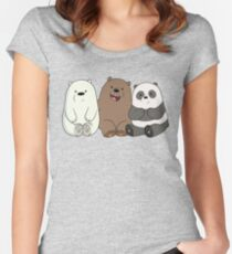 Cute Bare Bear Women's Fitted Scoop T-Shirt