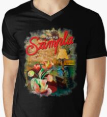 Ruin Pub Szimpla Lounge with Flowers in Budapest Men's V-Neck T-Shirt