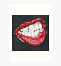 Is She in Mid Thought, or Angry? Art Print