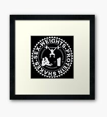 sex weights protein shakes Framed Print