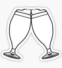 toast drink beer glass of beer Sticker