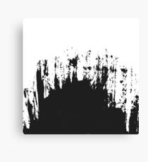 Modern Black and White Painted Brushstroke Canvas Print