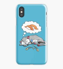 Kitteh dreams of sushi iPhone Case