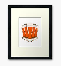 Beer drinking beer glass Framed Print