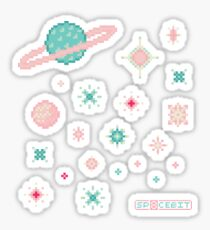 Pink and Mint Rift Galaxy Sticker
