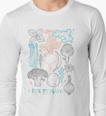 I love vegetables! Long Sleeve T-Shirt
