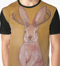 Jackalope Handpainted   Graphic T-Shirt
