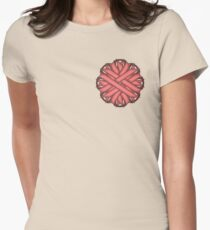 Pink Flower Ribbon Womens Fitted T-Shirt